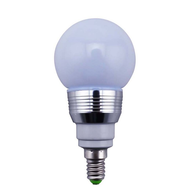 Auraglow 7w Remote Control Colour Changing Led Light Bulb: 16 Colors LED Ball Bulb E27 E14 B22 7W 85V 265V Remote