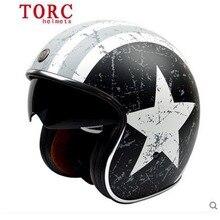 2015 limited brand TORC open face motorcycle helmet with inner sun visor casco capacetes vintage retro men scooter helmet