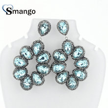 3Pairs,The Colorful Crystal Earrings,Women Fashion Earrings.5 Colors,Can Mix, Can Whole Sale
