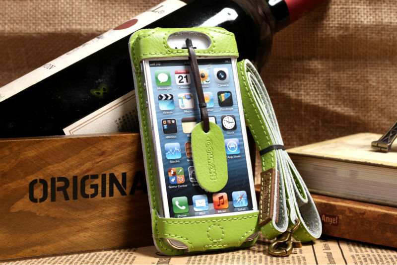 best sneakers 61a27 e2651 US $325.0 |30pcs best selling New design leather mobile phone shoulder bag  pouch case for iphone 5s 5c with neck strap free shipping on Aliexpress.com  ...