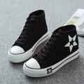 canvas shoes women high top casual shoes lace up all size 35-39 star pattern shoes espadrilles plimsolls scarpe donna XK081705