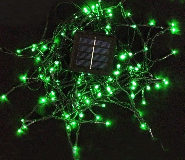 Outdoor Solar cell String Fairy Light 12M 100 LED Lamp For Christmas Xmas party Wedding Holiday Garden Decoration Free shipping