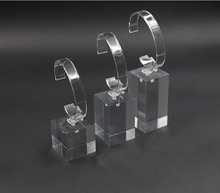 3pcs/set Clear Acrylic Watch Display Stand Holder with C circle