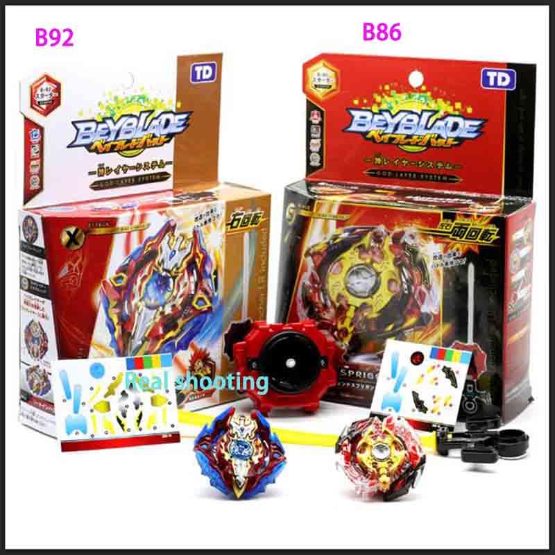 8 new Beyblade burst B71 B85 B92 B86 B73 B74 B79 B75 children launcher and original box metal plastic mixed Fusion 4D Gift Toys