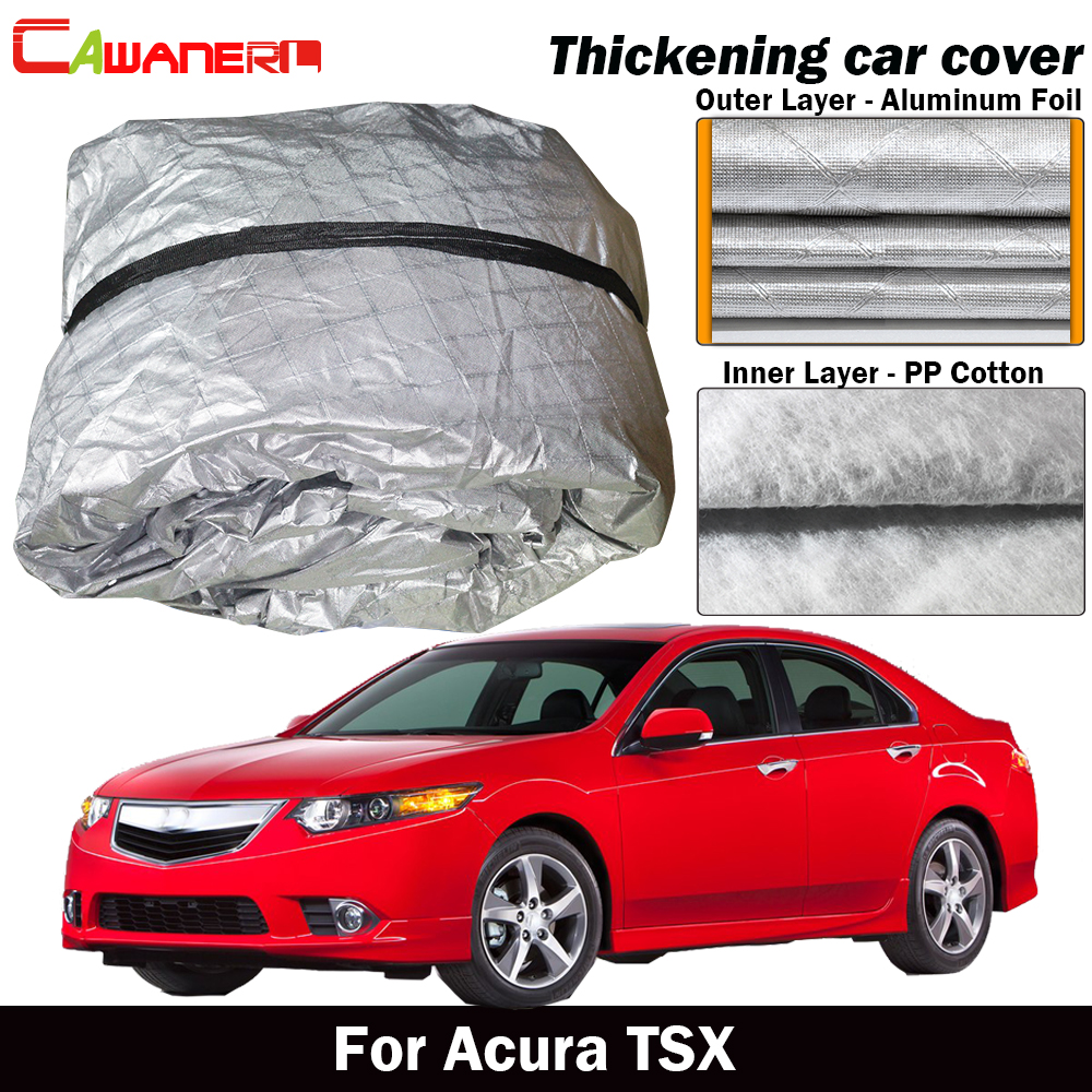 Cawanerl For Acura TSX Car Cover Inner Cotton Waterproof Sun Shade Rain Snow Hail Dust Protection CoverCawanerl For Acura TSX Car Cover Inner Cotton Waterproof Sun Shade Rain Snow Hail Dust Protection Cover