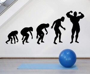 Image 1 - Fitness enthusiasten Bodybuilding fitness vinyl wand aufkleber Mann Gym jugend schlafsaal schlafzimmer home dekoration wand aufkleber 2GY7