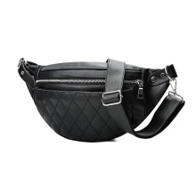 5PCS/ LOT Women Waist Bags PU Leather Male Solid Zipper High Quality Bag Fanny Pack Bum Belt Chest