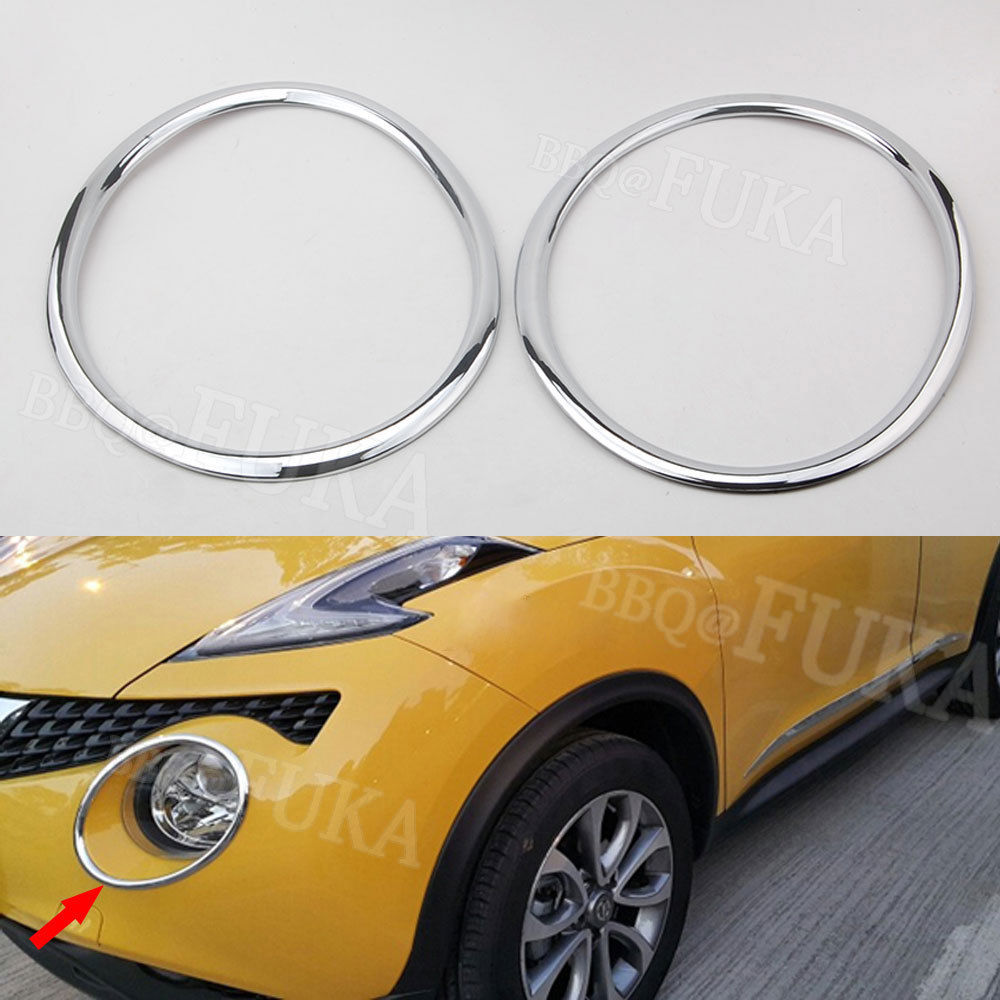 BBQ@FUKA Fit For 2011-2014 Nissan Juke Chrome ABS Car Front Headlight Lamp Cover Trim Molding Styling Sticker