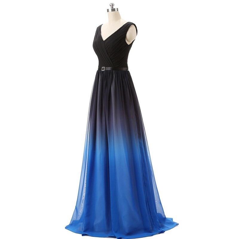 Ruthshen Gradienten Abendkleider Schwarz Blau Prom Kleider 2018 ...