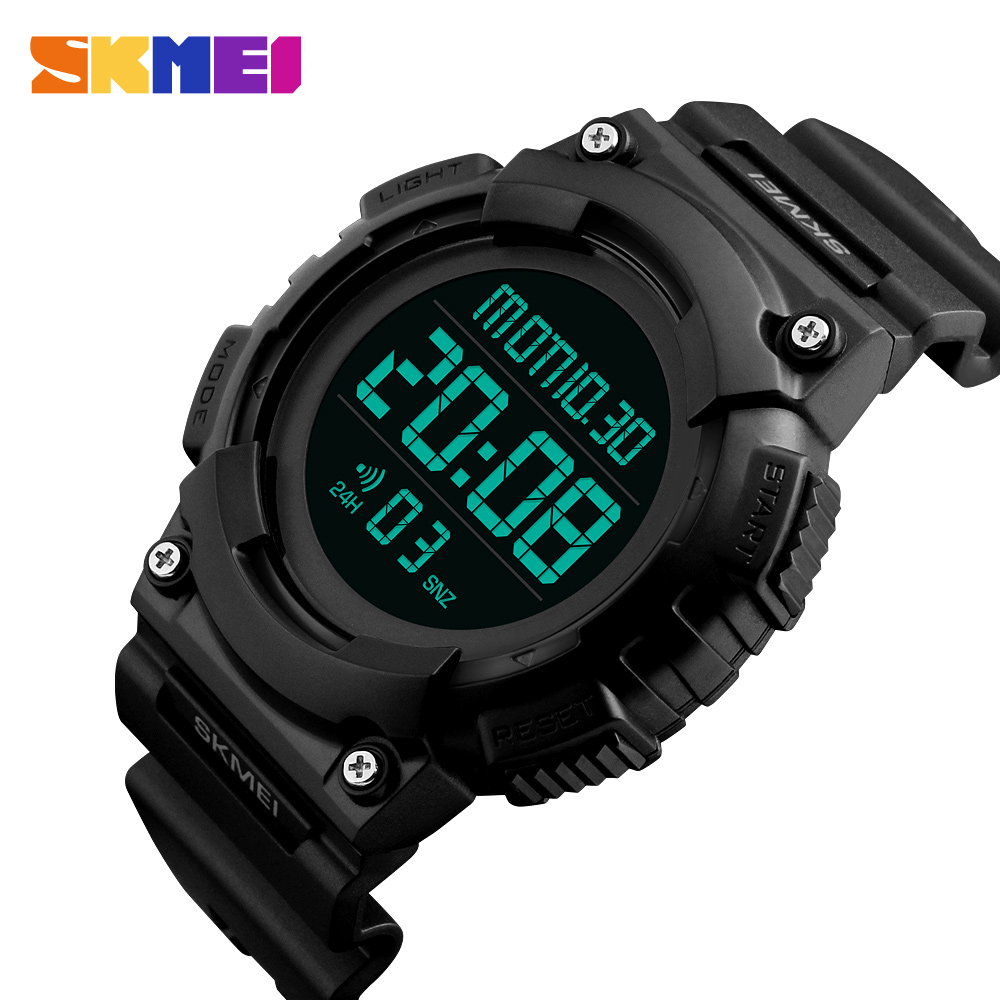 SKMEI Men Sport Watch 5Bar Waterproof Luxury Brand Fashion Watches Multifunction Alarm Digital Watch Relogio Masculino 1248