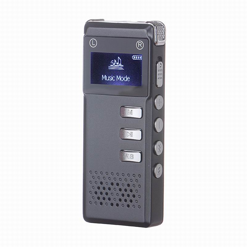 VOR Digital Audio Voice Recorder 8GB MP3 Player Metal Case Music Player A-B Repeat, Tetephone Record Function High Quality