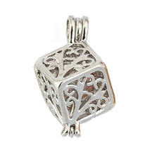 Silver Tree of Life Pearl Cage Jewelry Findings Cage Locket Pendant Essential Oil Diffuser Locket For Oyster Pearl Women Men(China)