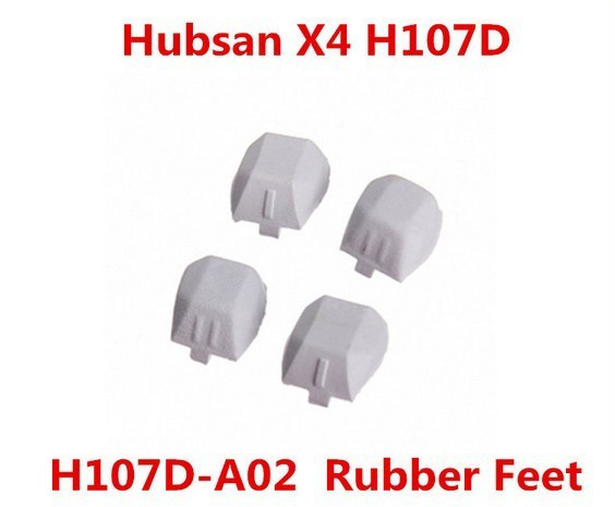 Original Rubber Feet  H107D-A02 for Hubsan X4 H107D Quadcopter Gray Free Shipping