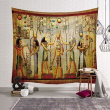 Ancient Egypt Printed Decorative Tapestry Mandala Wall Hanging Indian Carpet Yoga Mat for Home