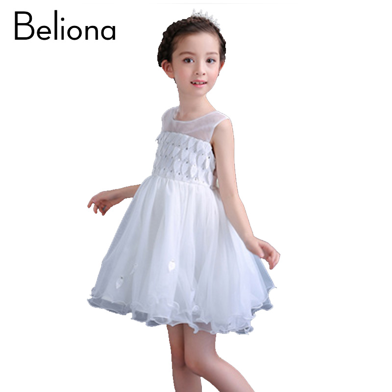 цены Fashion Girls Tutu Dress Summer Kids Clothes for Girls Age 4 10 12 14 Years Sleeveless Red White Leaf Lace Baby Child Clothing