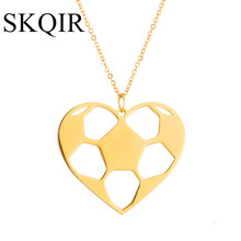 Buy gold soccer necklace and get free shipping on aliexpress skqir gold hollow heart pendants necklaces women jewelry mozeypictures Image collections