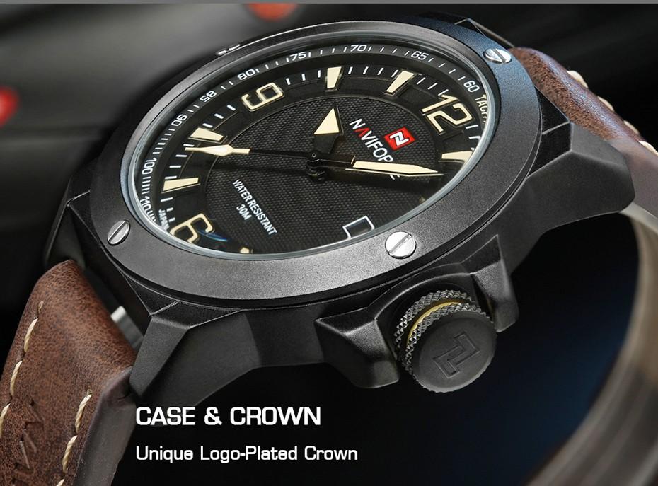 2017 Nouveau Luxe Marque Naviforce Hommes Classique Militaire Montres Hommes de Quartz Date Horloge Homme Poignet Montre de Sport Relogio Masculino 8