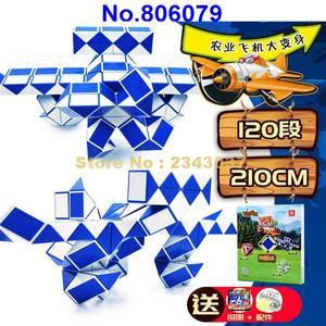 Image 1 - Regla mágica de 210cm de 120 segmentos, cubo giratorio de serpiente, rompecabezas, juguete educativo para niños 806079