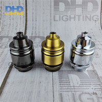 Wholesales Price 50pcs Lot Industrial Vintage Thread Sockets Brass Colour Lamp Holder Aluminum Heavy High Quality