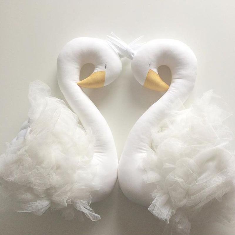 Baby Kussen Swan Kroon Gaas Kussen Kussen Baby Begeleiden Slapen Pop - Beddegoed - Foto 3