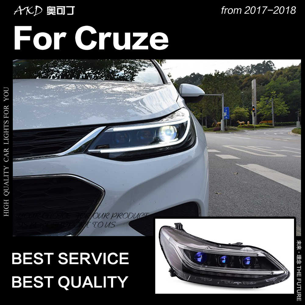 AKD Car Styling Head Lamp for Chevrolet Cruze Headlights 2017-2018 All New  Cruze LED Headlight DRL Hid Bi Xenon Auto Accessories