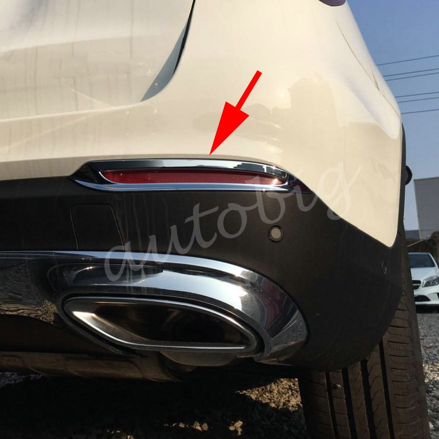 Cover Trims Rear Foglight Lamp Reflector For Mercedes-Benz GLC Wagon X253 2016