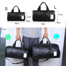 Running Gym Leather Sports Bag for Men Women Hand or Shoulder Hold.