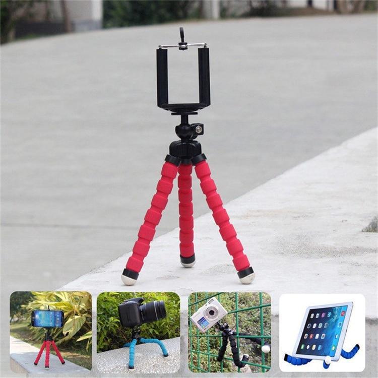 2016 Նոր մեքենայի հեռախոսի սեփականատեր Flexibleկուն Octopus Tripod Bracket Selfie Stand Mount Monopod Styling պարագաներ բջջային հեռախոսի տեսախցիկի համար