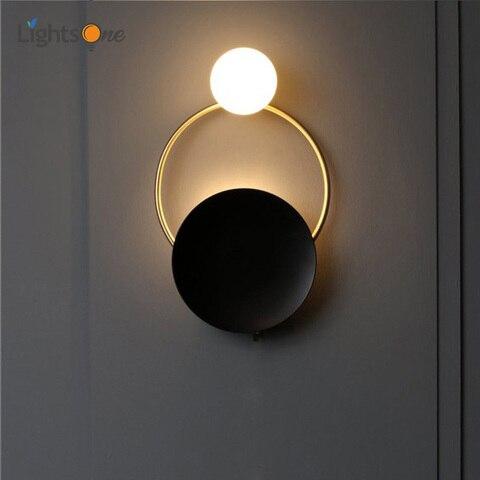 pos moderna criativo ferragem sala de estar luz parede arte cabeceira quarto designer modelo lampada