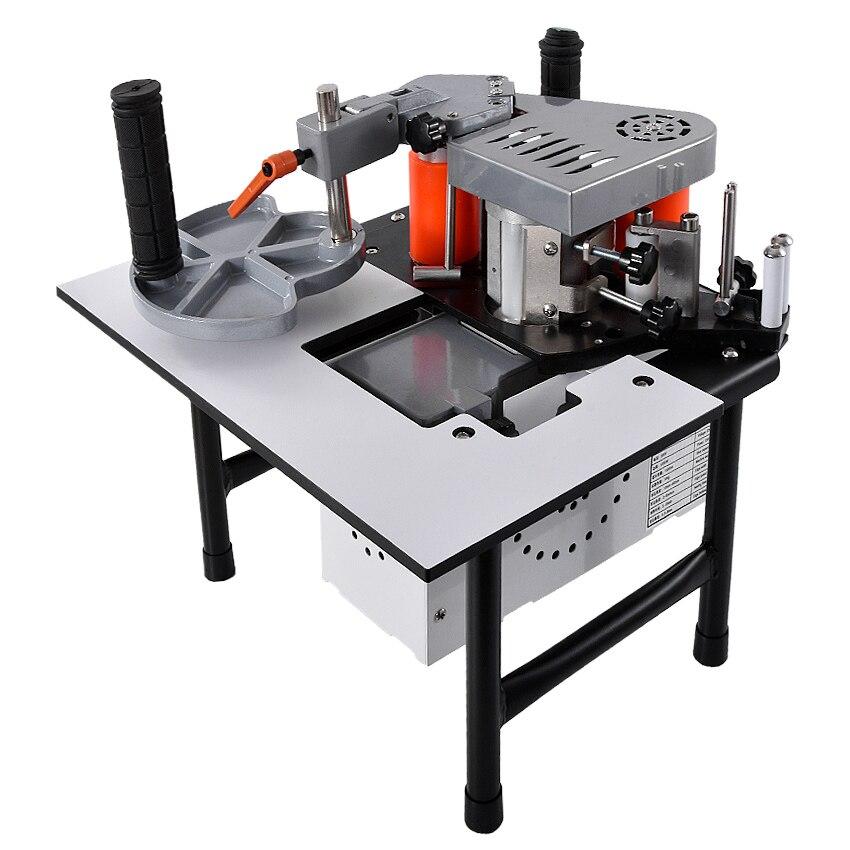 SC-40 bord Machine de baguage Portable bois PVC deux faces collage bord Bander avec plateau et coupe vitesse réglable 110/200 V 1200 W 1000 ml