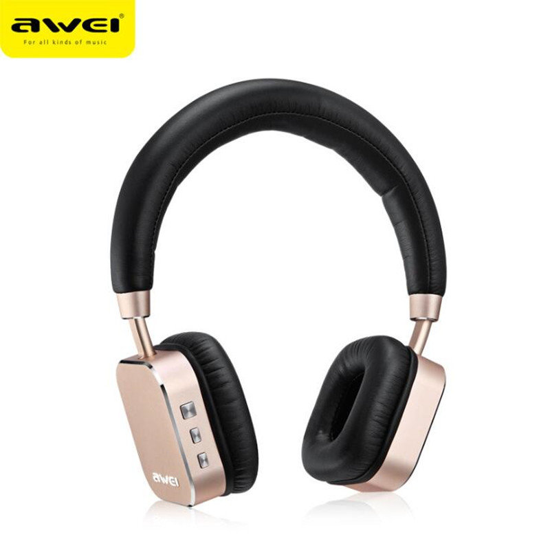 AWEI A900BL Wireless Bluetooth4.1 Headphones USB Charging LED Sports Headset Headphone with Mic for Iphone for Samsung