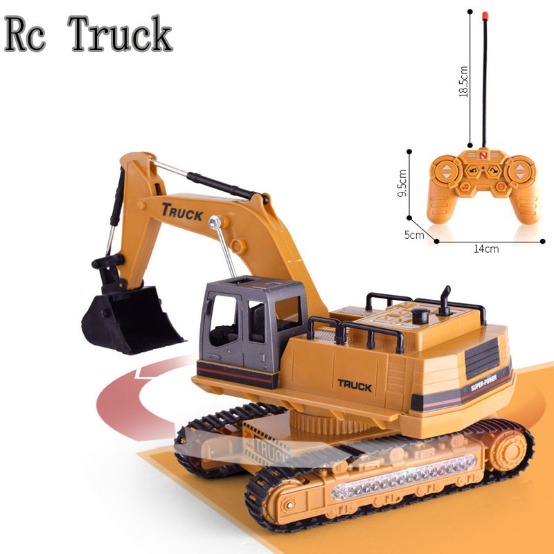 8 Channel <font><b>1/14</b></font> RC Excavator Excavat Truck Toy Remove Control Construction Vehicle Boy Gift RC Engineering Car Tractor Brinquedos image