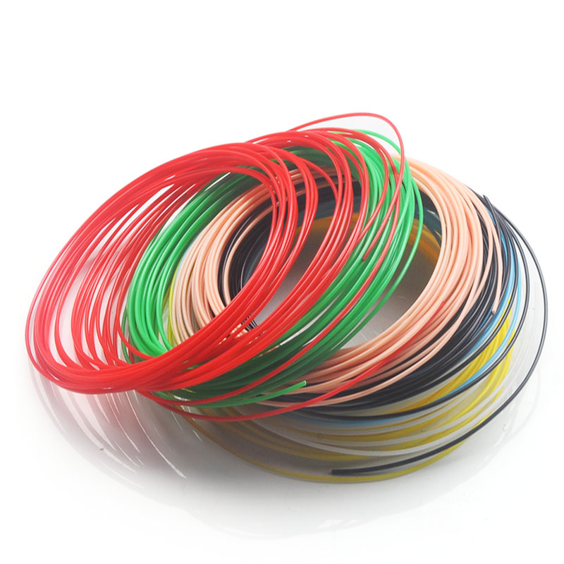 No pollution pla abs 1 75mm 20 colors 3d pen filament pla 1 75mm pla filament abs filament abs plastic pla plastic rainbow wire in 3D Pens from Computer Office