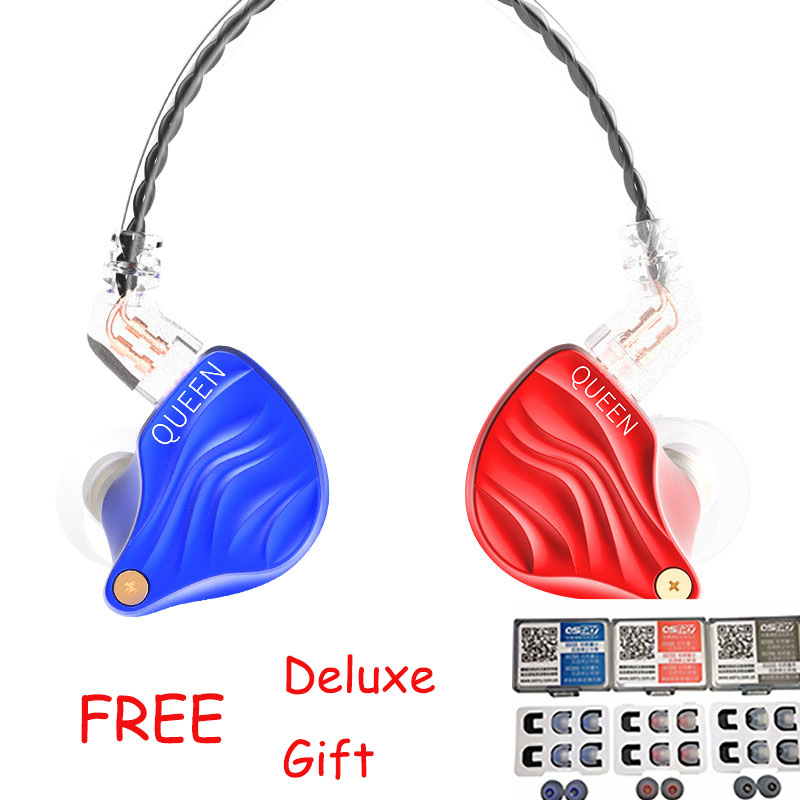 цена на Deluxe Ostry GIFT Sets+ TFZ QUEEN In Ear Earphone With 2Pin Interface HIFI Monitor In Ear Sports Earphone DJ Bass Earphone