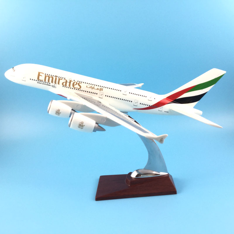 31CM Emirates A380 Resin Aeroplane Models Plane Aircraft Models Stand Toy Collections Gift Free EMS/DHL express shipping dhl ems 2 lots l