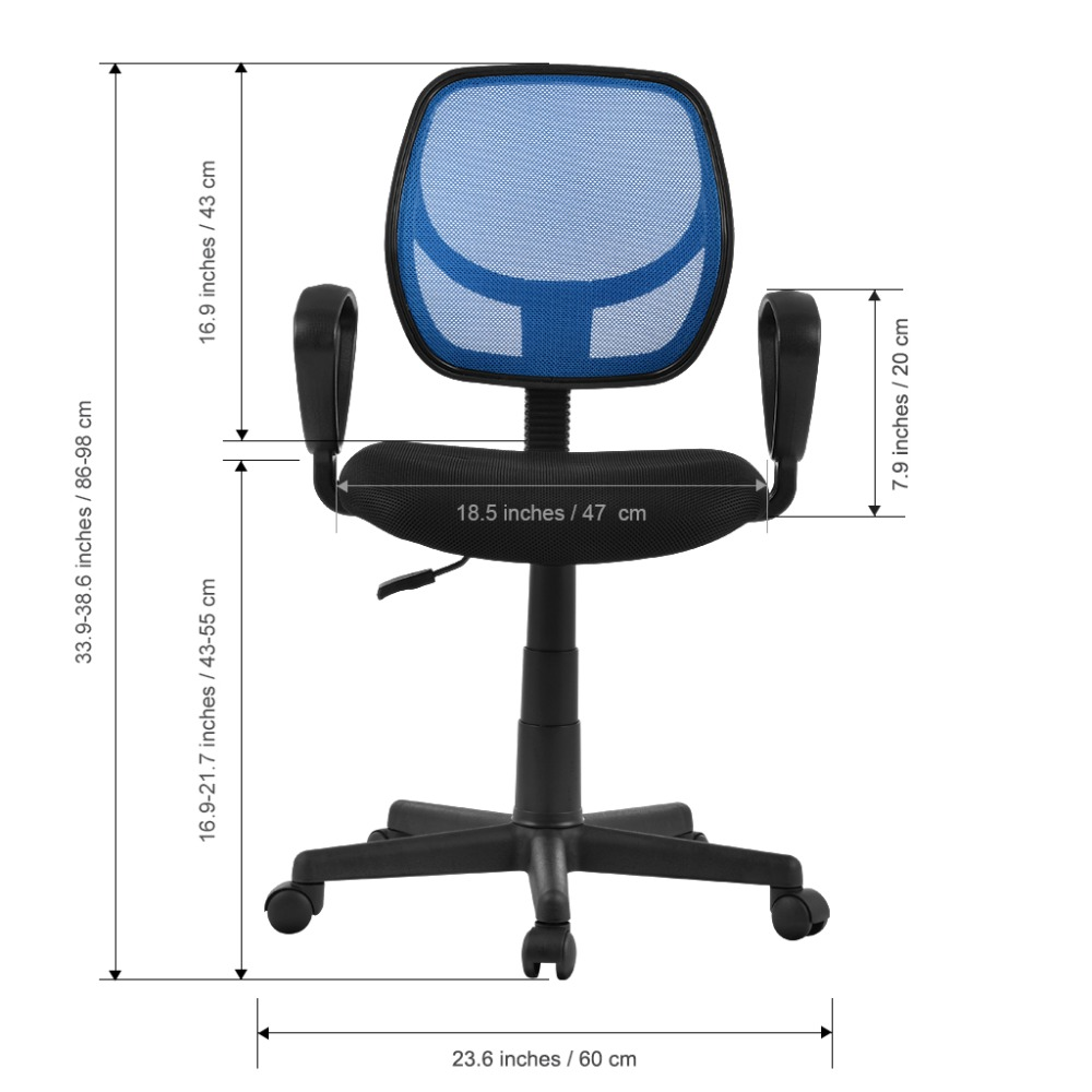 Official Website Us Fashion Mid-back Height-adjustable Armless Basic Faux Leather Computer Studio Task Office Chair With 360 Degree Swivel Furniture