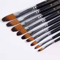 BGLN 9Pcs/Set Nylon Hair Watercolor Paint Brush Oil/Acrylic Artist Paint Brushes Set For Painting Drawing Artist Supplies