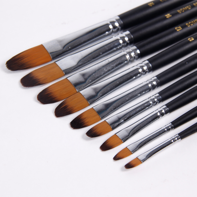 BGLN 9Pcs/Set Nylon Hair Watercolor Paint Brush Oil/Acrylic Artist Paint Brushes Set For Painting Drawing Artist Supplies