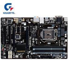 Материнская плата для Intel B85 DDR3, 100% оригинал, Gigabyte, материнская плата LGA 1150, 32G, для настольного ПК, SATA 3, USB3, используется