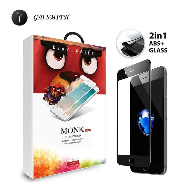 G. d. smith 3d borde suave protector de pantalla de cristal templado para apple iphone 7 7 plus a prueba de explosiones película de vidrio al por menor y venta al por mayor
