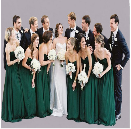 High Quality Dark Green Bridesmaids Dresses-Buy Cheap Dark Green ...