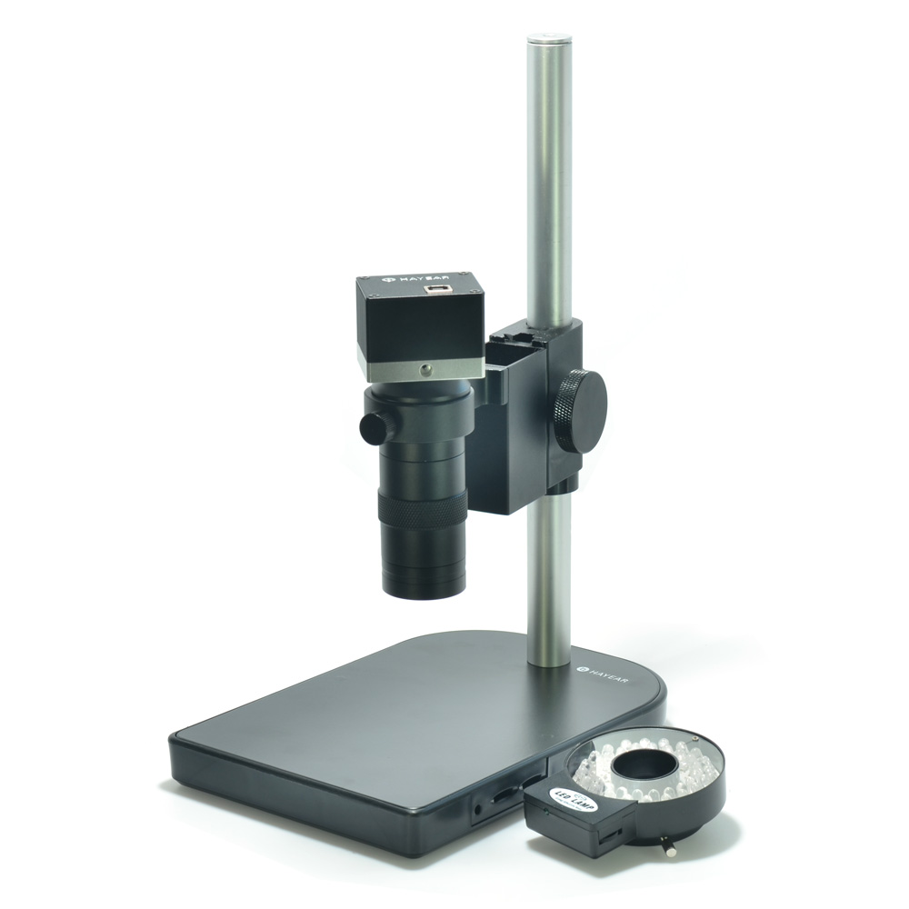 5.0MP USB Microscope Camera Kit Industrial Microscopes 100X Zoom Lens Table Stand Calibrate Measurement Software for Win10 кроссовки котофей цвет серый оранжевый