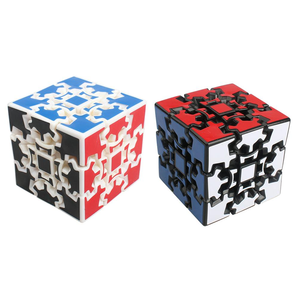 Magic Combination 3D Magic Gear Cube Puzzle Toy,3x3 Speed Stickerless Twisty Puzzle 60mm