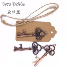 Wedding Souvenirs Skeleton Bottle Opener + Tags Wedding Favors and Gifts for Guest Party Favors Festive Party Supplies 50sets(China)