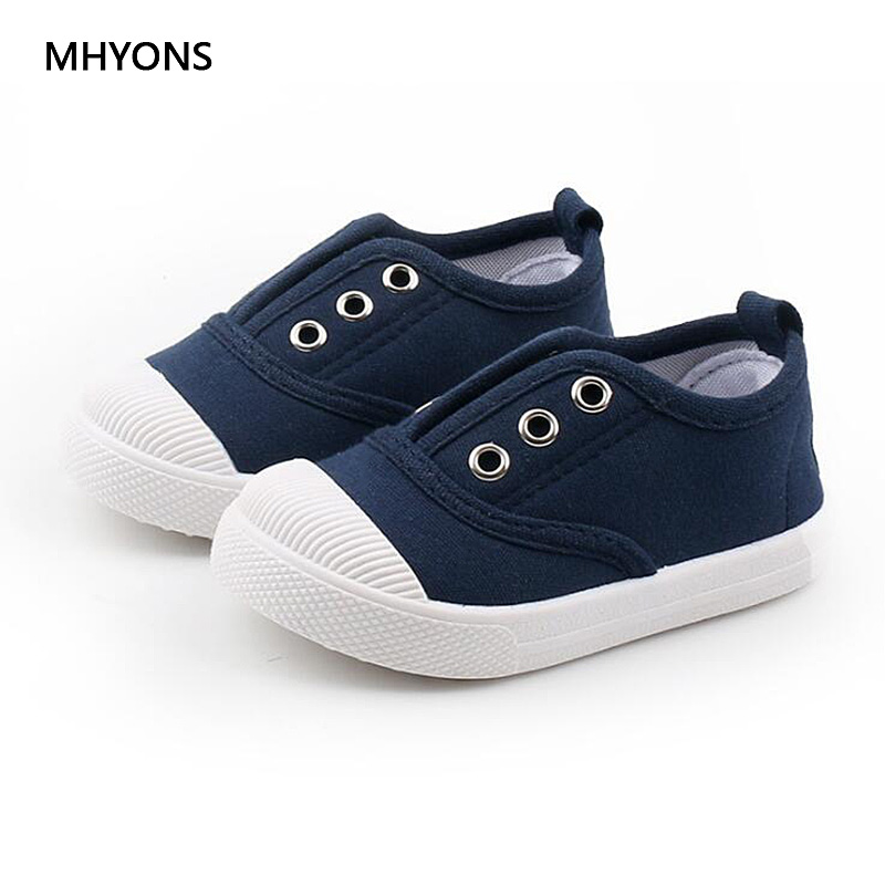 2019 New Kids Shoes Baby Canvas Sneakers Autumn Children Girls Shoes Toddler Boys Canvas Shoes Kids Candy Colors Casual Sneakers