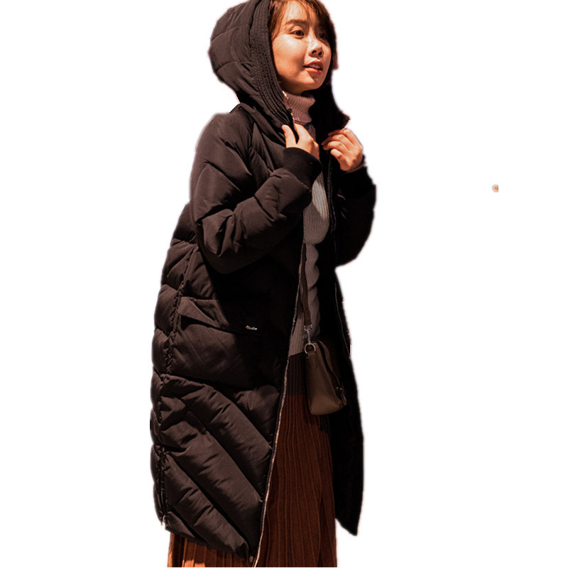 Thick Down Cotton Hooded Jacket Women High Quality Parka Casual Manteau Femme Hiver Fashion Warm Womens Winter Jackets TT3412 women s winter jacket hooded thick warm parkas cartton solid high quality cotton coat manteau femme hiver plus size l 4xl dj29