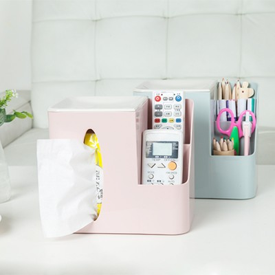 BF040 Creative Home Furnishing multi function desktop box Doug sundries box tissue box 19 12 17cm in Tissue Boxes from Home Garden