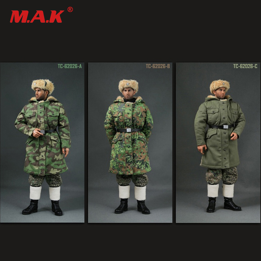 62026 1/6 Scale WWII  German Soldier Uniforms Winter Suit for 12 inches Action Figure Models Accessory 1 6 scale soldier figure accessory dragon karabiner kar 98k carbine rifle clip w sandbags wwii german army 12 action figure