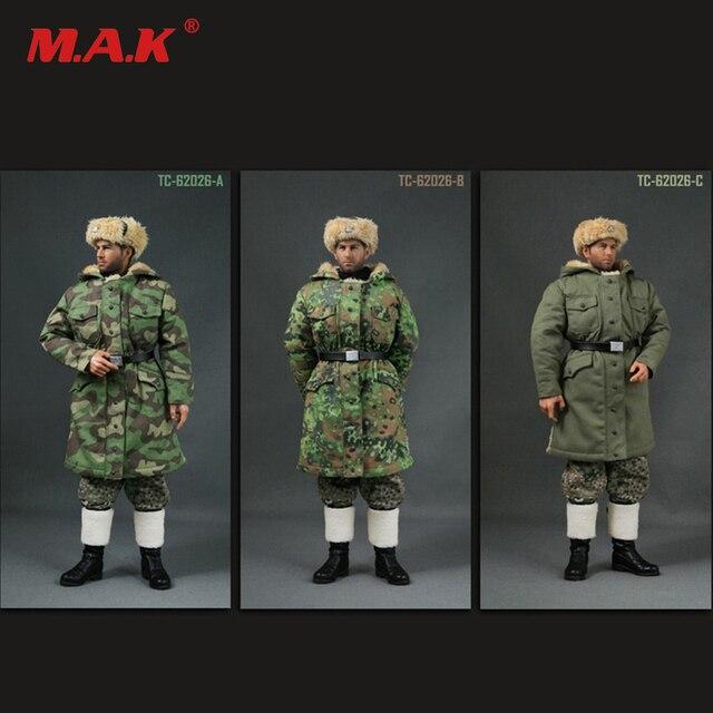 Escala 62026 1 6 SEGUNDA GUERRA MUNDIAL Alemão Soldado Uniformes Terno do  Inverno para 12 a62107e3559d0