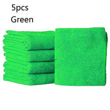 5Pcs 25 X 25cm Car Cloth Cleaning Duster Microfiber Material Car Wash Towel Auto Care Detailing Tool Cloth #T2(China)